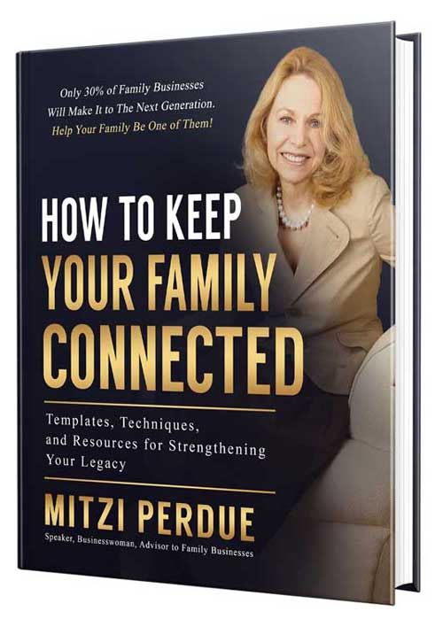 Book cover for How To Keep Your Family Connected by Mitzi Perdue
