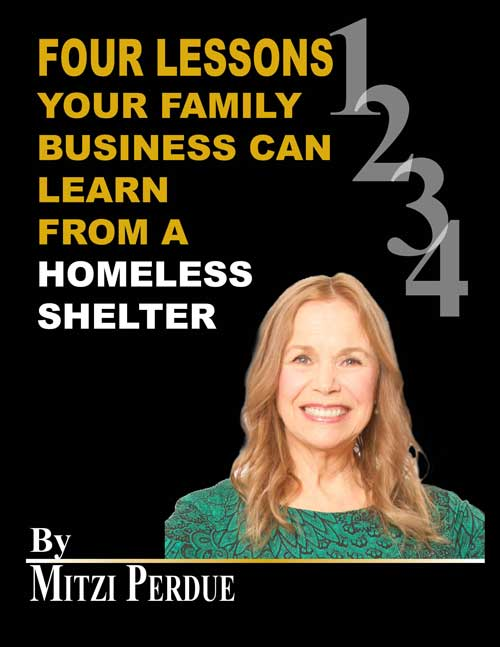 PDF Cover for 'Four Lessons Your Family Business Can Learn from A homeless shelter.'
